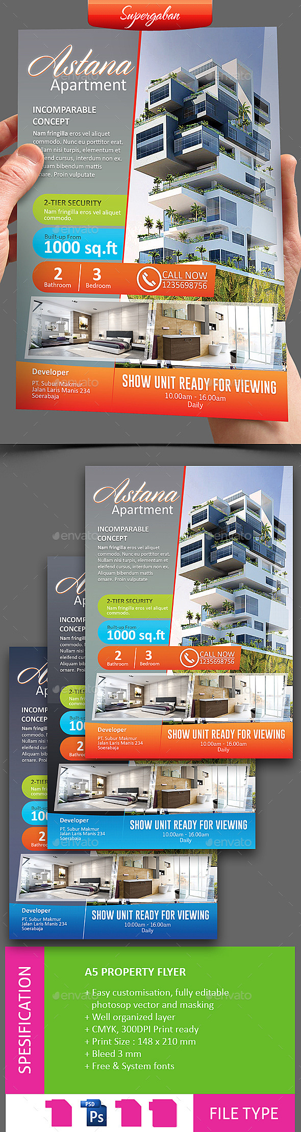 GraphicRiver PROPERTY AGENT FLYER 11259346