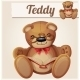 Teddy Bear In Glasses Read The Book. Cartoon - GraphicRiver Item for Sale