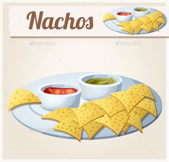 GraphicRiver Nachos Tortilla Chips Detailed Vector Icon 11259413