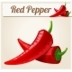 Red Spicy Peppers. Detailed Vector Icon.  - GraphicRiver Item for Sale