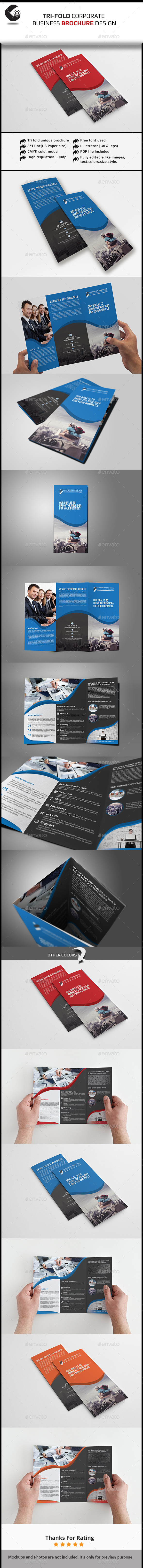 GraphicRiver Tri-Fold Brochure Multipurpose 11259425