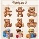 Teddy Bears Set. Part 2. Cartoon Vector - GraphicRiver Item for Sale