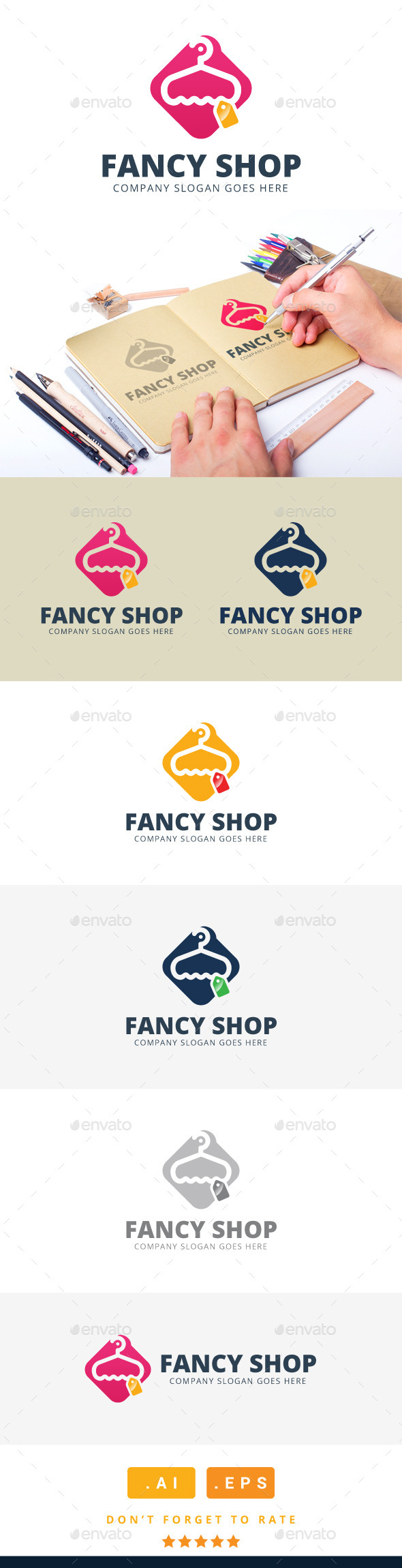 GraphicRiver Fancy Shop Logo 11259441