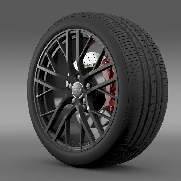 Audi R8 LMX wheel 2014 - 3DOcean Item for Sale