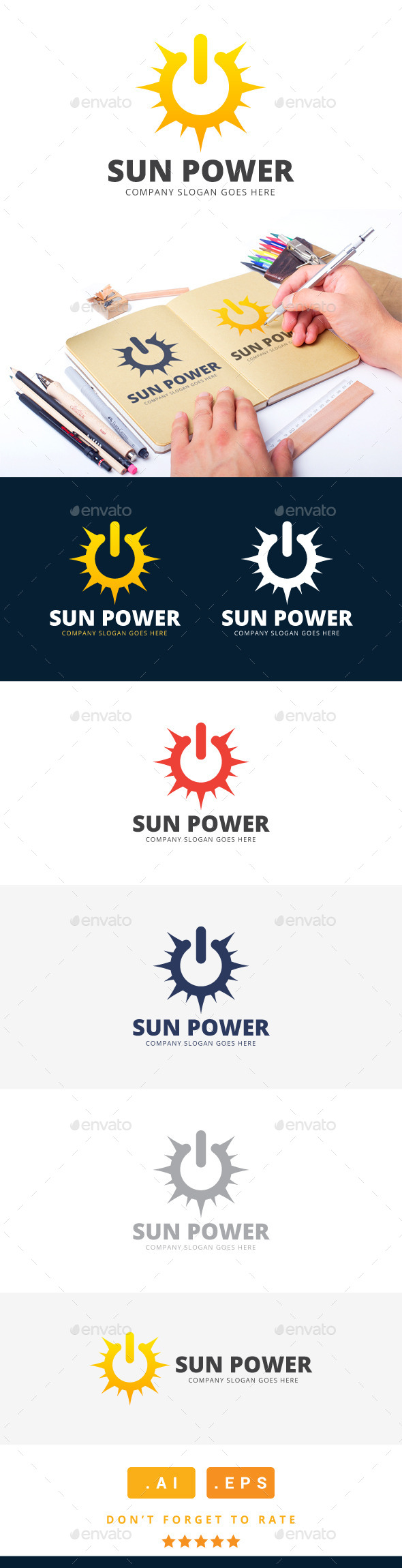 GraphicRiver Sun Power Logo 11259469