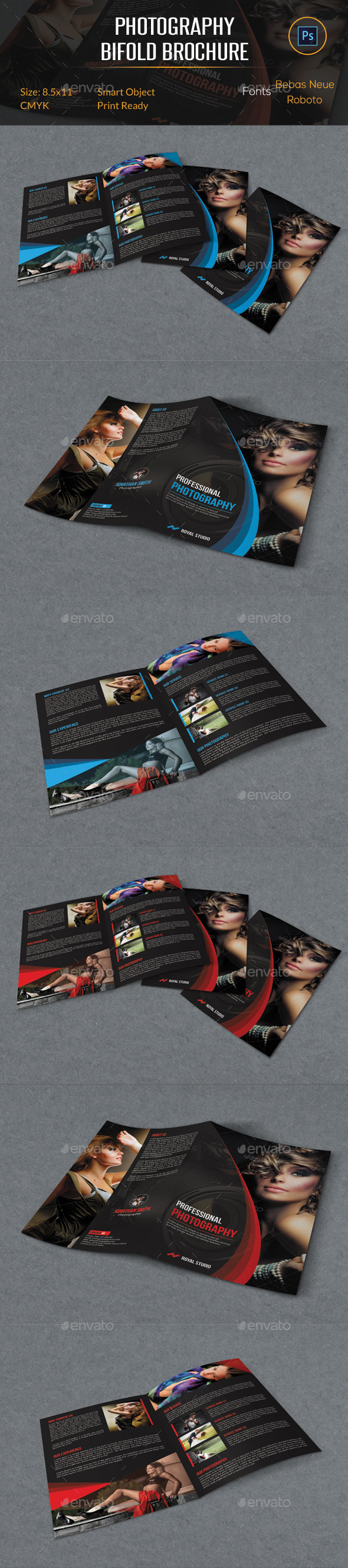 GraphicRiver Photography Bifold Brochure 11259470