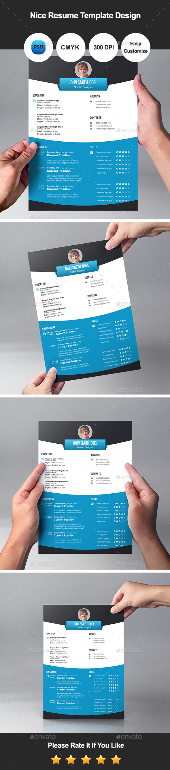 GraphicRiver Nice Resume Template Design 11259472