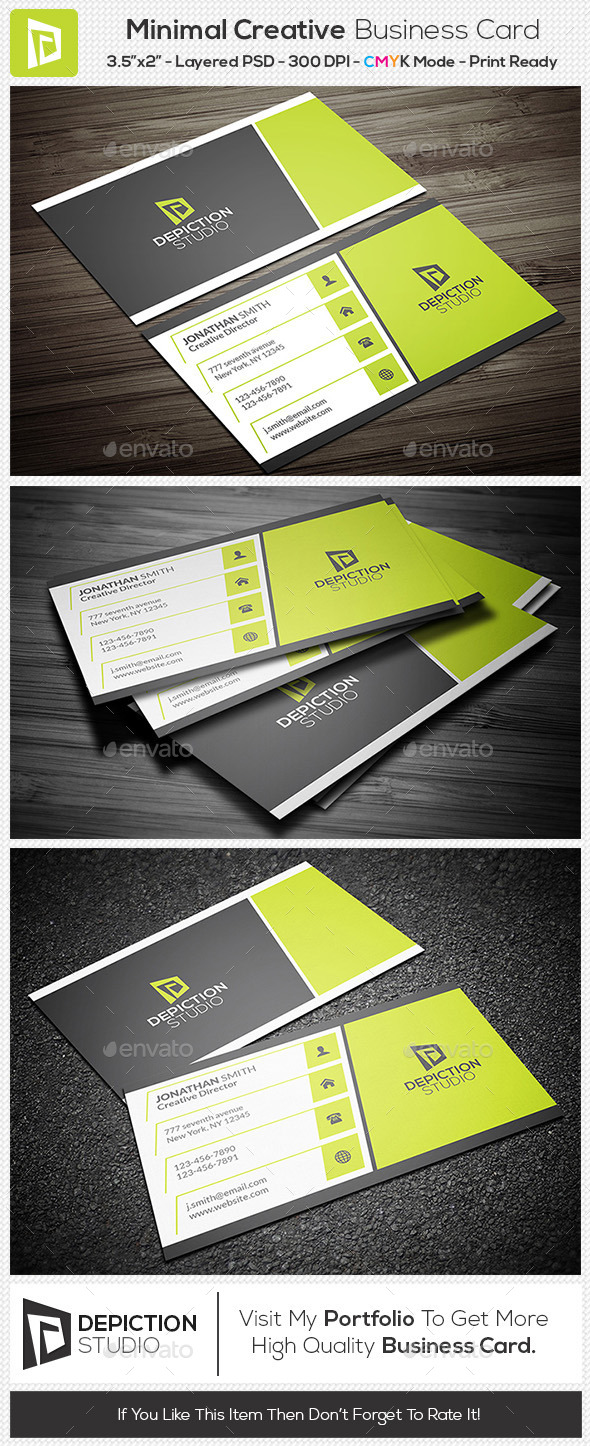 GraphicRiver Minimal Creative Business Card 11259594