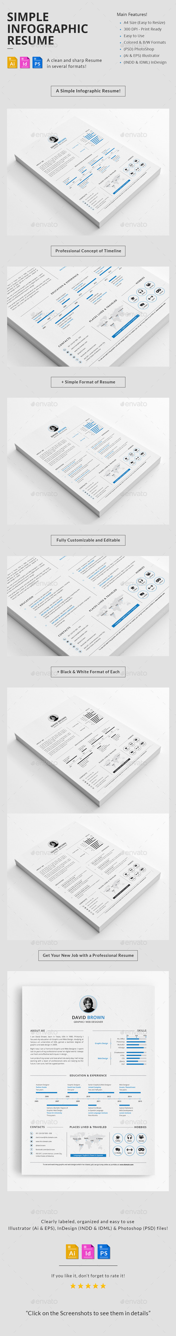 GraphicRiver Simple Infographic Resume 11259646