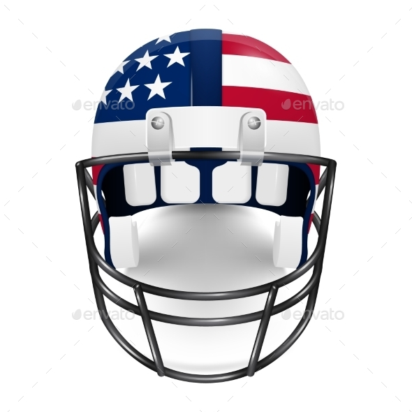 GraphicRiver Patriotic Football Helmet US Flag 11259654