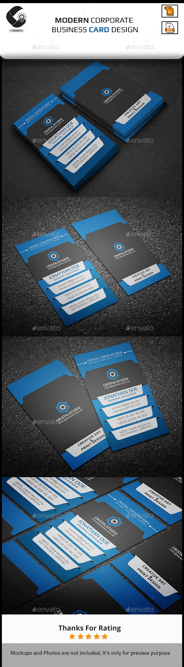GraphicRiver Modern Corporate Business Card 11259683
