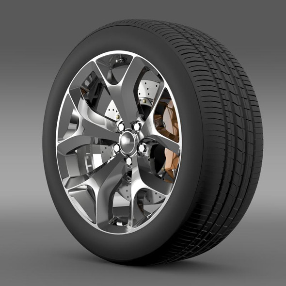 Dodge Challenger SXT wheel 2015 - 3DOcean Item for Sale