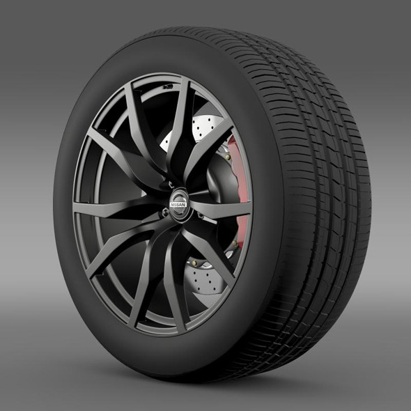 Nissan GTR wheel 2015 - 3DOcean Item for Sale
