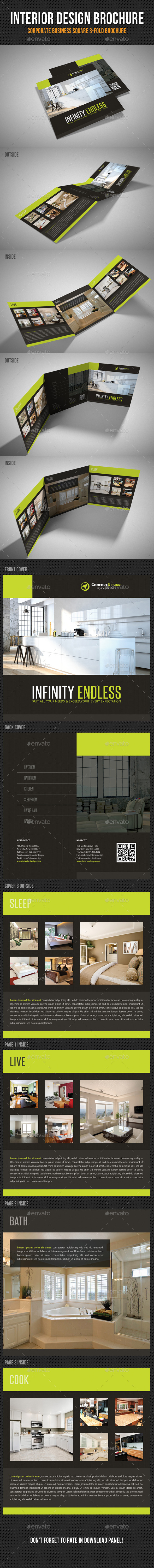 GraphicRiver Interior Design Square 3-Fold Brochure V03 11260092
