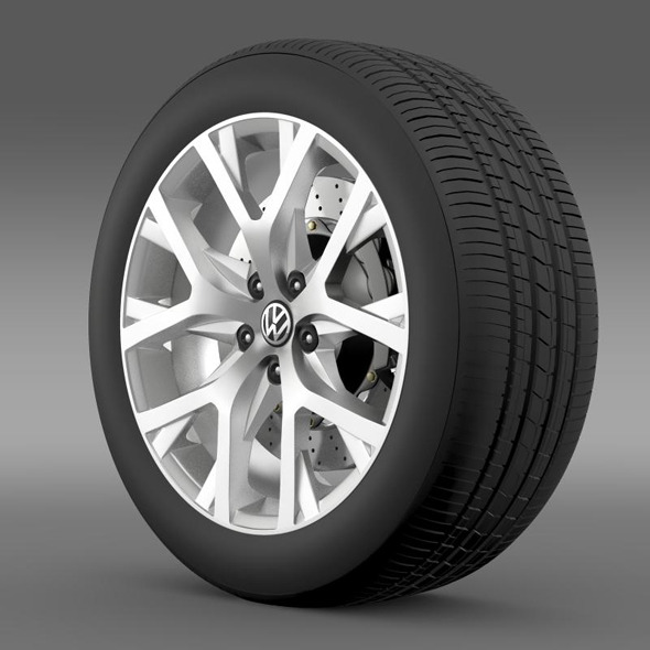 3DOcean Volkswagen CrossPolo 2014 wheel 11260184