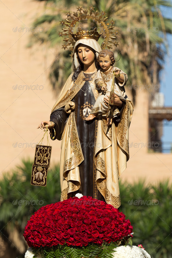 Virgen del Carmen - Stock Photo - Images