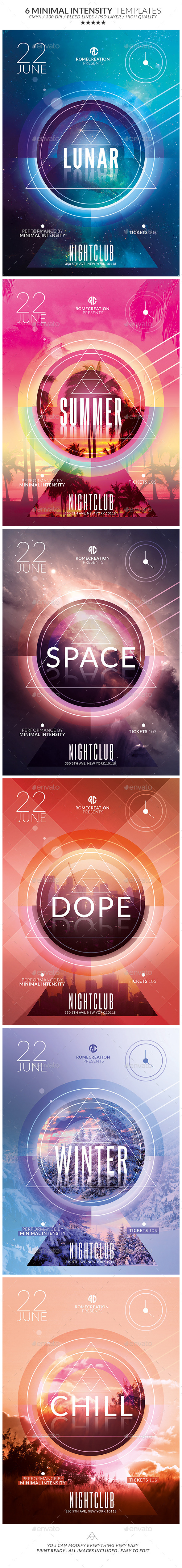 GraphicRiver Minimal Intensity Flyer Psd Templates Pack 11260361