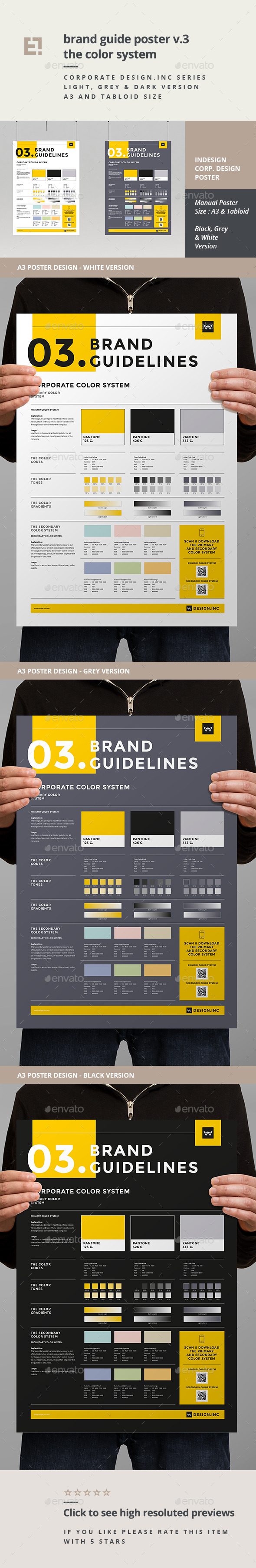 GraphicRiver Brand Manual Template 3 Colors 11260623