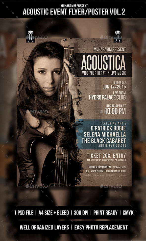 GraphicRiver Acoustic Event Flyer Poster Vol.2 11215097