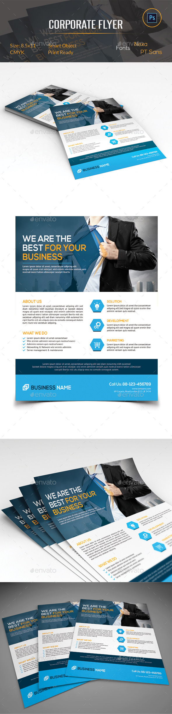GraphicRiver Corporate Business Flyer 11260647