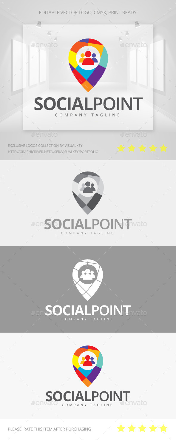 GraphicRiver Social Point Logo 11260754