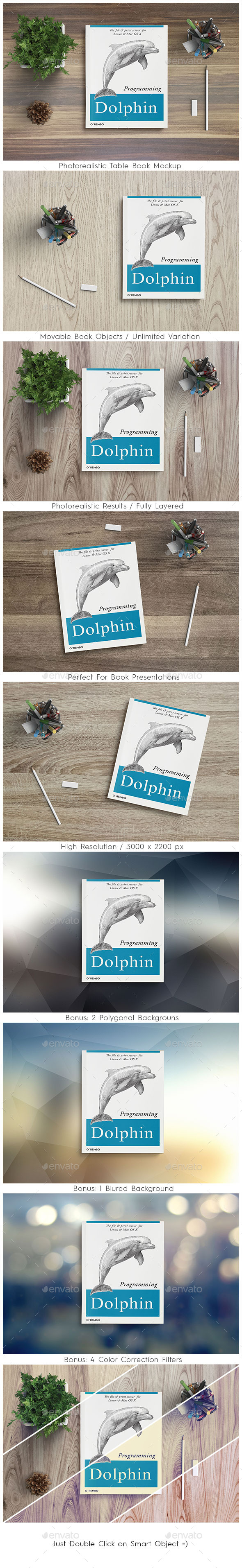 GraphicRiver Photorealistic table book mockup 11131190