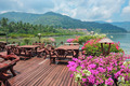 Cafe on the veranda in the fishing village of Bang Bao tropical - PhotoDune Item for Sale