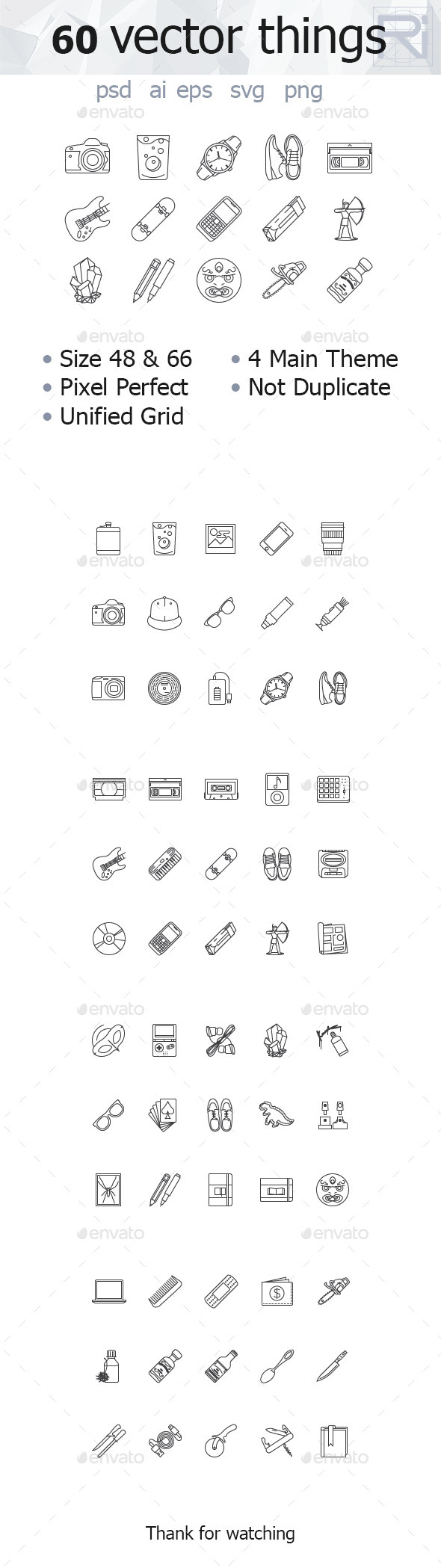 GraphicRiver 60 Vector Things 11260920