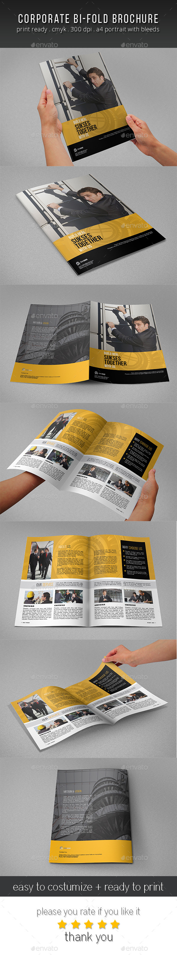 GraphicRiver Corporate Bi Fold Brochure Template 11260934
