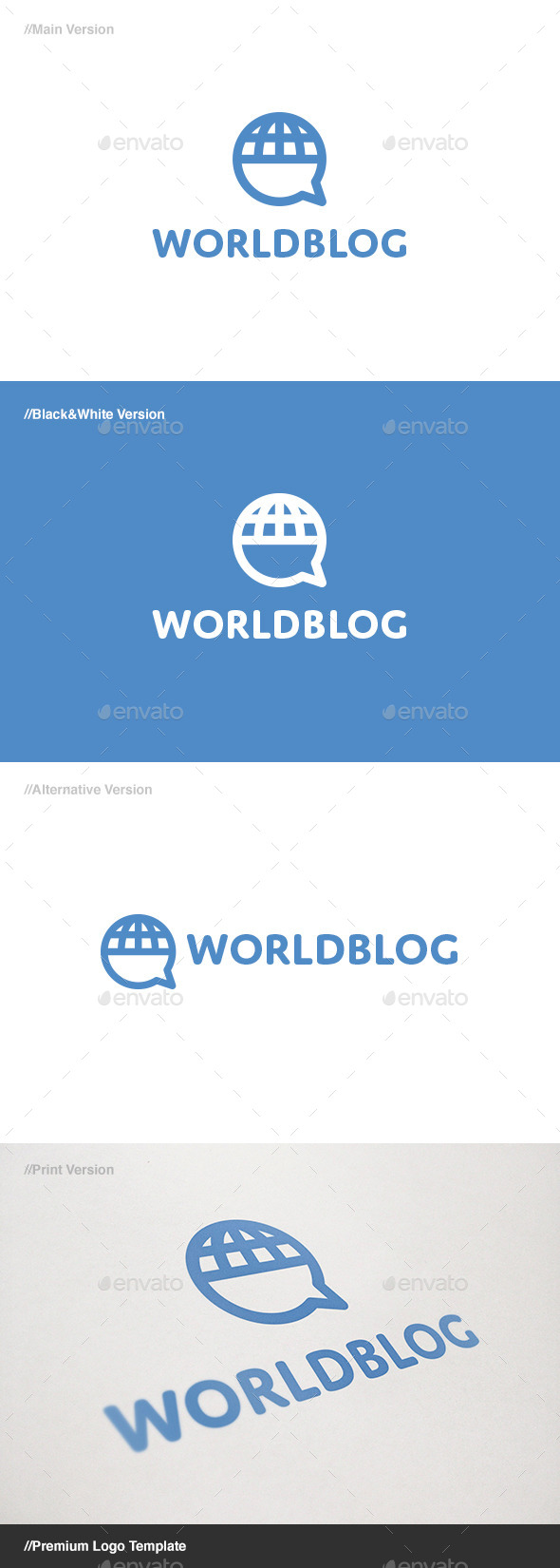 GraphicRiver World Blog Logo 11261004