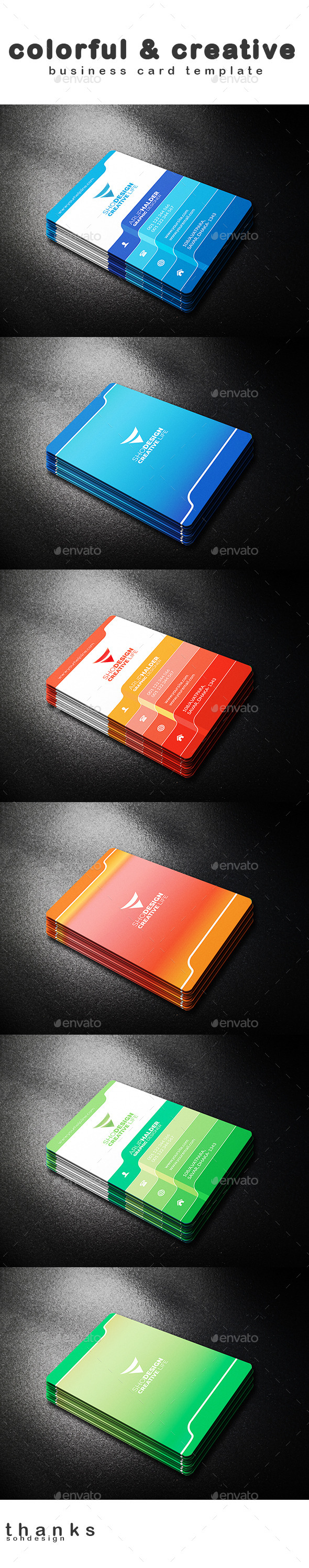 GraphicRiver Colorful & Creative Business Card Template 3 11261164