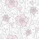 Vector Magical Lace Flowers Seamless Pattern