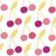 Vector Yummy Cherries Seamless Pattern Background - GraphicRiver Item for Sale