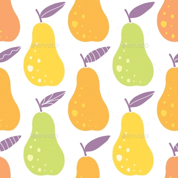 GraphicRiver Vector Yummy Pears Seamless Pattern Background 11261213