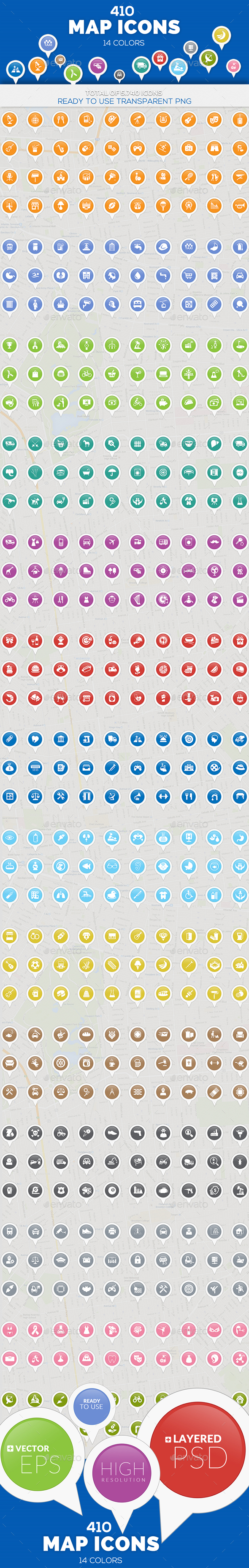 GraphicRiver Map Icons 11261217