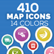 Map Icons - GraphicRiver Item for Sale