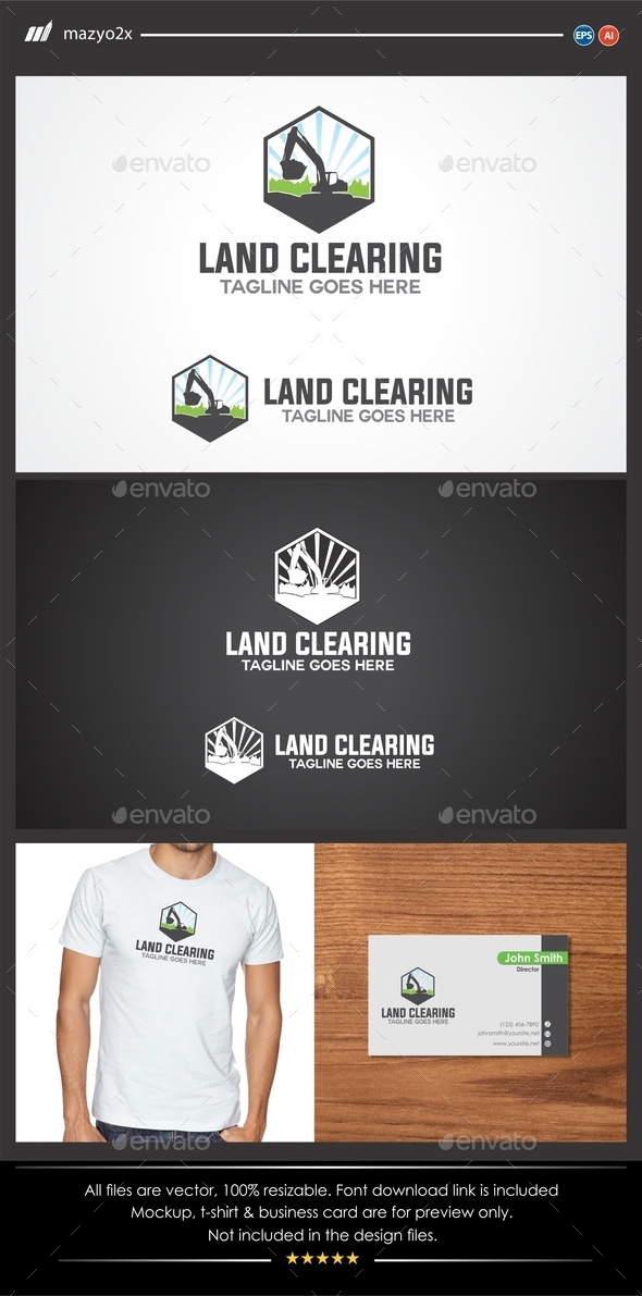 GraphicRiver Land Clearing Logo 11261230