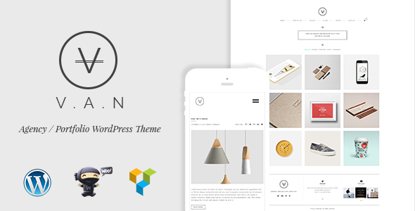 VAN- Minimalist Agency, Photo Gallery Shop Theme - Creative WordPress