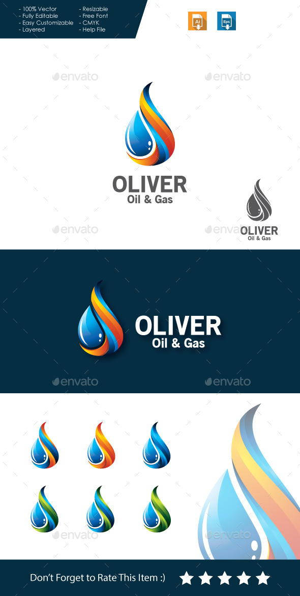 GraphicRiver Oil Gas Logo 11261659