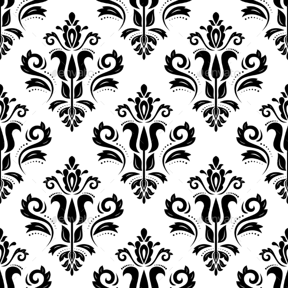 GraphicRiver Damask Seamless Vector Pattern 11261764