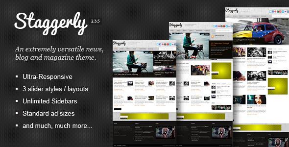 Staggerly - Responsive News, Magazine & Blog Theme - Blog / Magazine WordPress