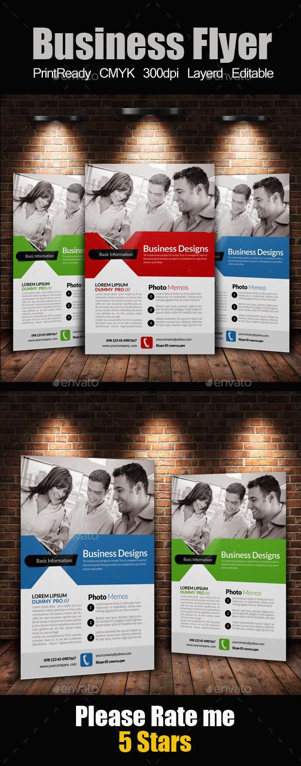GraphicRiver A4 Business Flyer Template 11262115
