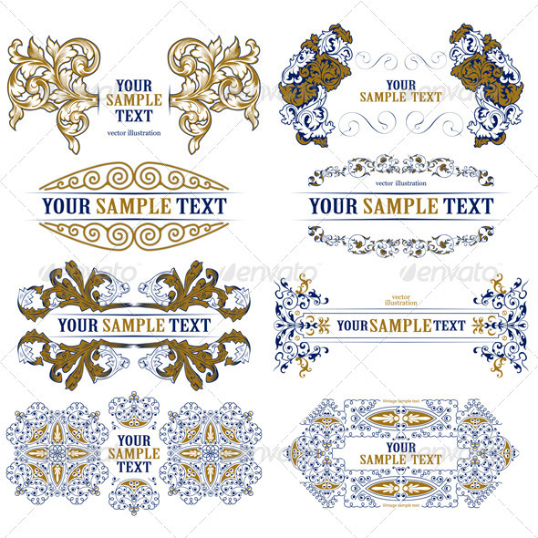 Set of Decorative Design Borders