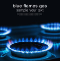 Burning blue gas on the stove - PhotoDune Item for Sale