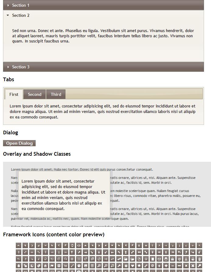 Sleek Admin Clean CSS Admin Skin - jQuery UI elements with custom skin for Sleek Admin