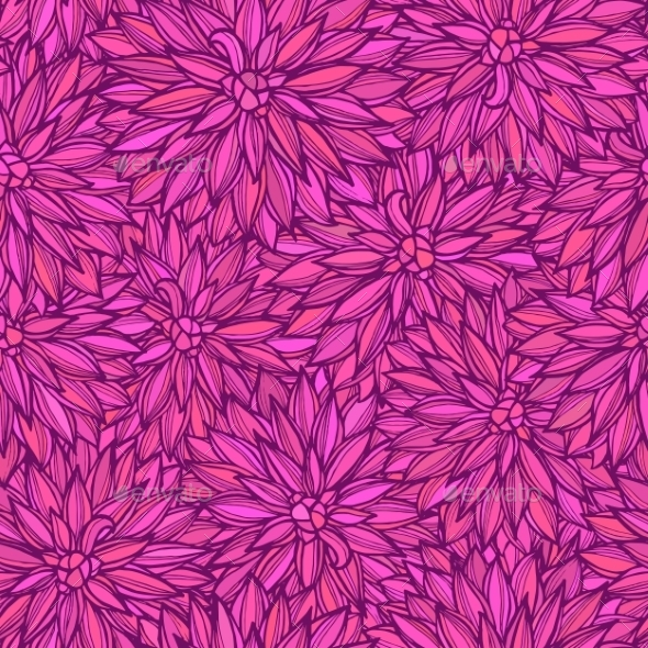 GraphicRiver Seamless Pattern With Flowers Dahlia 11262359