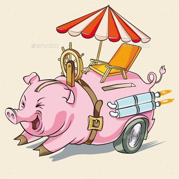 GraphicRiver Pig Piggy Or Rapid Accumulation 11262406