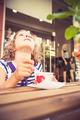 Happy child eating ice-cream - PhotoDune Item for Sale