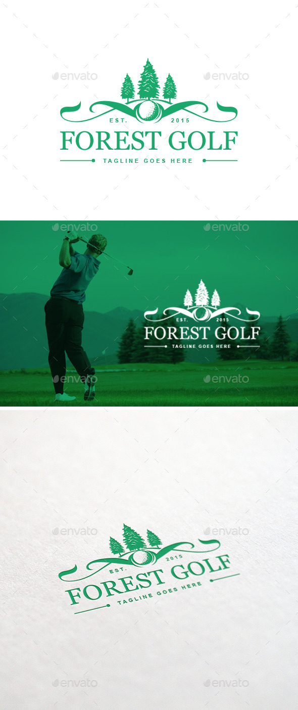 GraphicRiver Forest Golf Logo Template 11262903