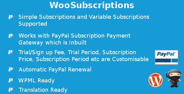 CodeCanyon WooSubscriptions Subscriptions for WooCommerce 11263015